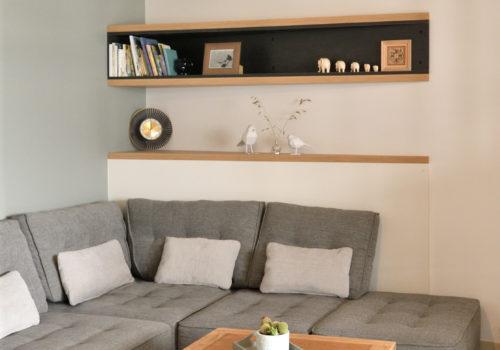 Espace Salon Blanc Gris Bois Sur Mesure